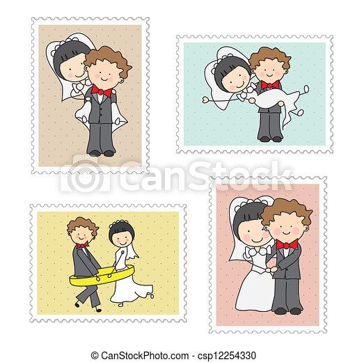 wedding stamps - csp12254330