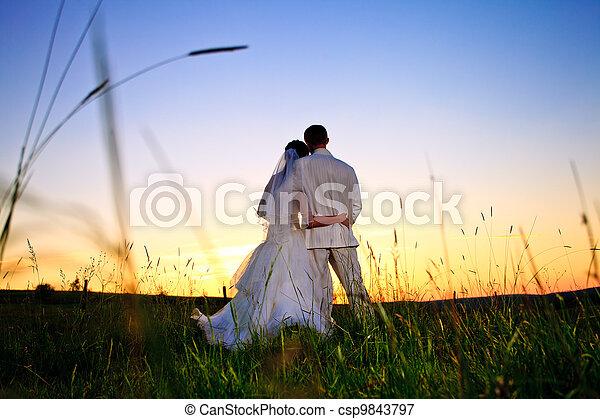 Wedding sunset - csp9843797