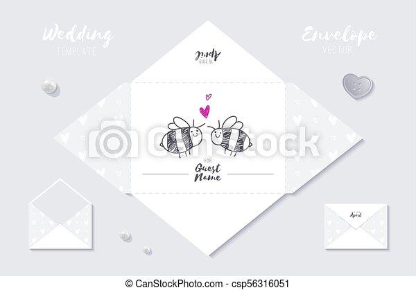 wedding vector template wedding vector envelope template of cute