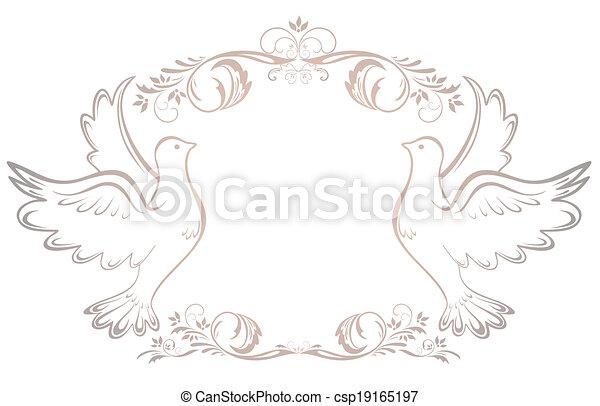 Wedding vintage frame - csp19165197