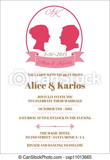 Wedding vintage invitation card in vector wedding vintage invitation card in vector stopboris Images