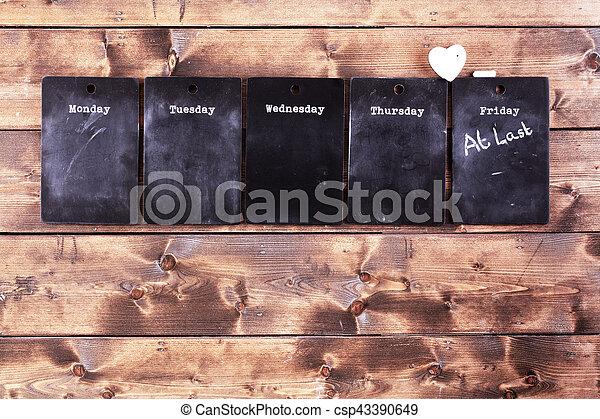 Weekday blackboard notices - csp43390649