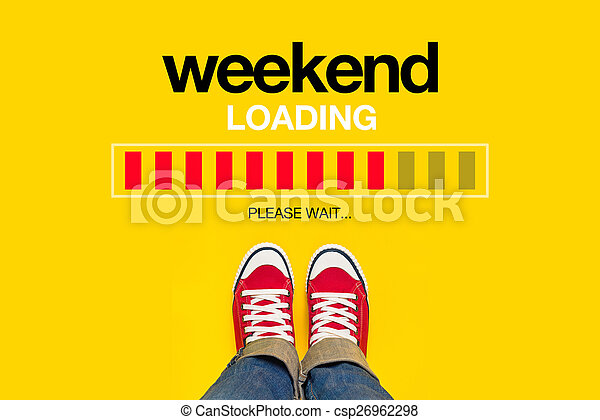 Weekend Loading Concept - csp26962298