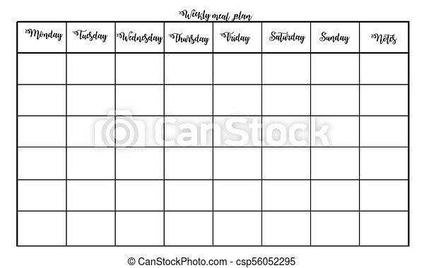 weekly meal plan csp56052295