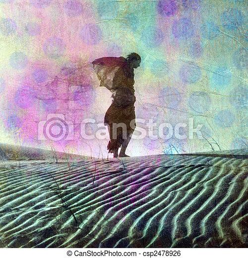 Tagträume weg - csp2478926