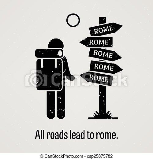wegen, alles, rome, lood - csp25875782