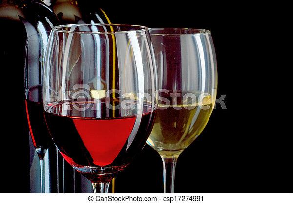 Rot und Weißwein - csp17274991