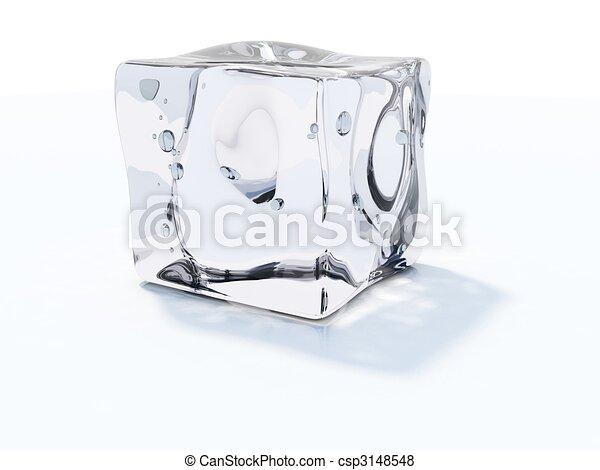 Eiswürfel isoliert auf weiß - csp3148548