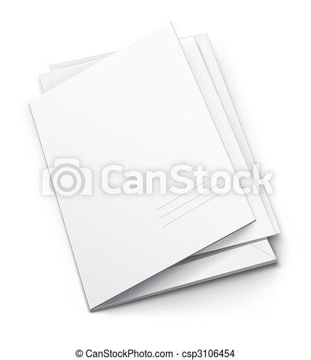 Weißer Ordner mit leerem titularen Deckel - csp3106454