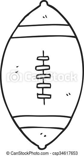 Weisses Fussball Schwarz Karikatur