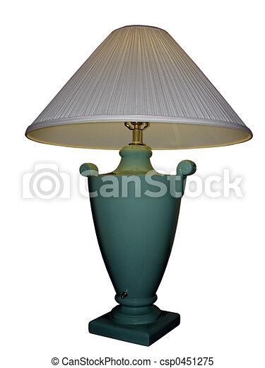 Weiße und grüne Lampe - csp0451275
