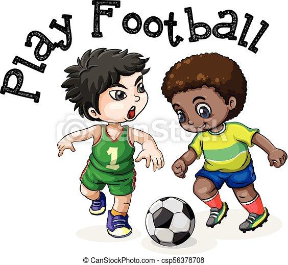 Weisses Kinder Hintergrund Fussball Spielende Kinder