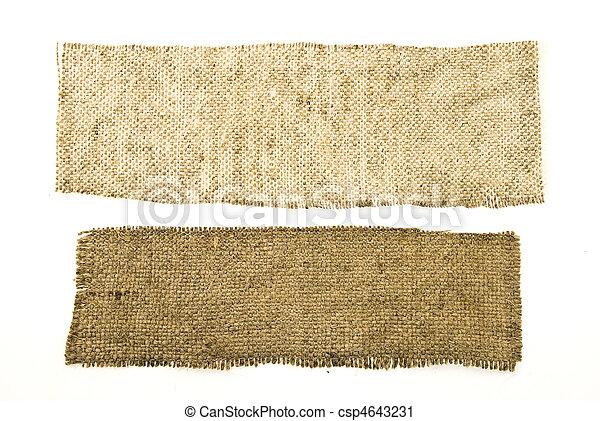 Sackcloth-Material isoliert auf weiß - csp4643231