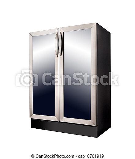 Weißes, modern, kühlschrank, hintergrund Stockfotografie - Bilder ...