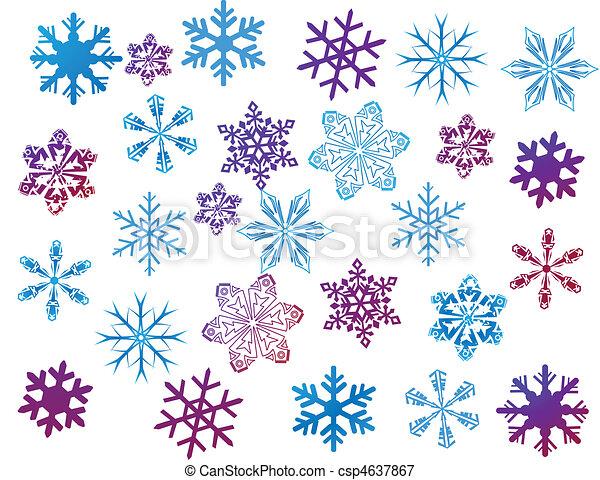 Schneeflocken auf weiß - csp4637867