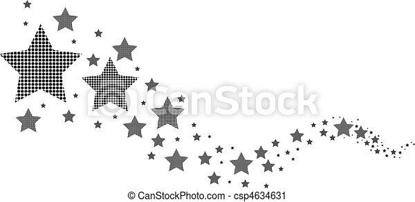 weißes, schwarz, sternen - csp4634631