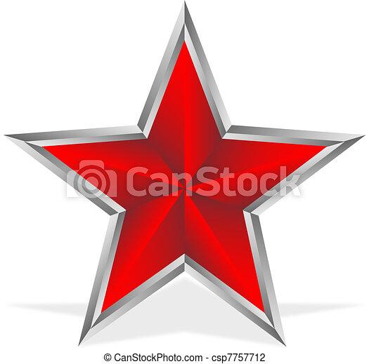 weißes, stern, rotes  - csp7757712