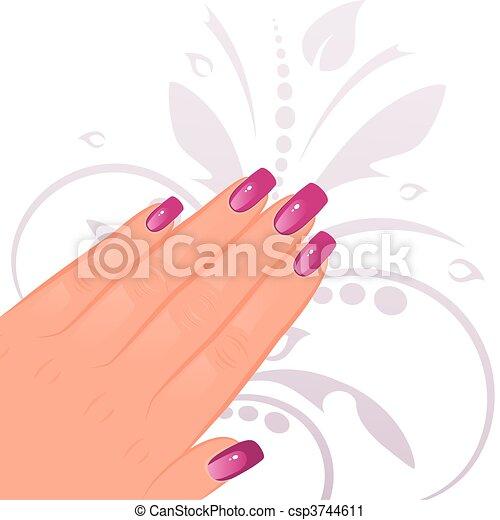 Weibliche Hand mit Maniküre - csp3744611