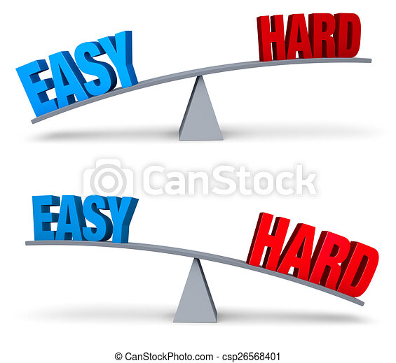 Weighing Easy And Hard Set - csp26568401