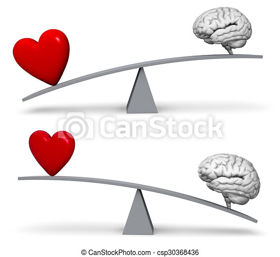 Weighing Heart Or Head Set - csp30368436