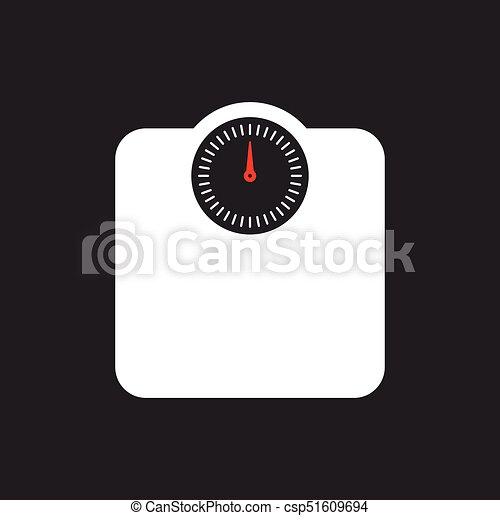 weighing scales on dark background illustration