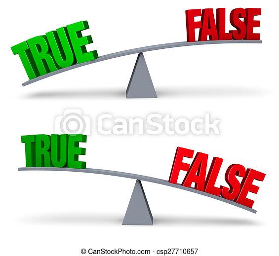 Weighing True Or False Set - csp27710657