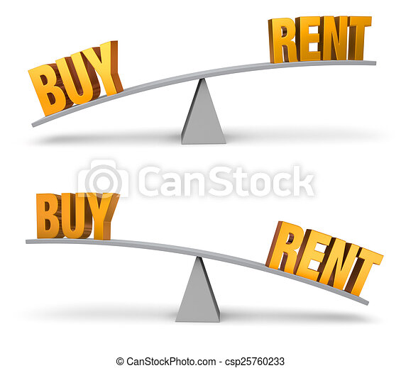 Weighing Whether To Buy Or Rent Set - csp25760233