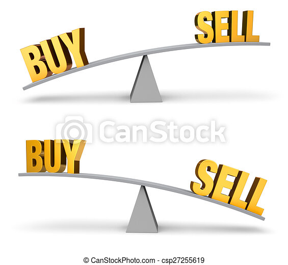 Weighing Whether To Buy Or Sell Set - csp27255619