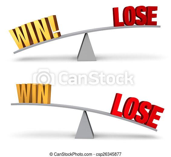 Weighing Win Or Lose Set - csp26345877
