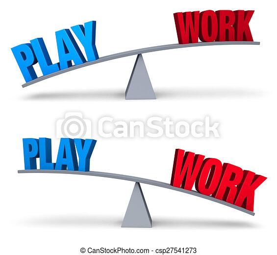 Weighing Work And Play Set - csp27541273