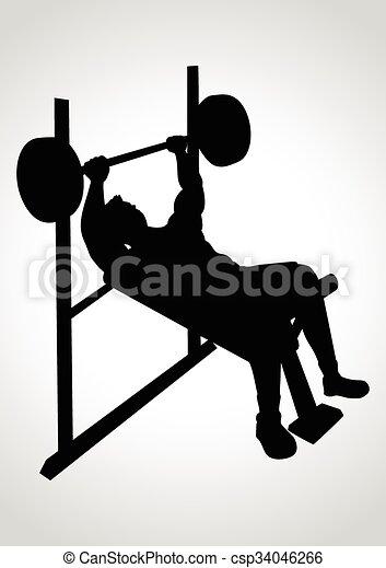 Weight Bench - csp34046266