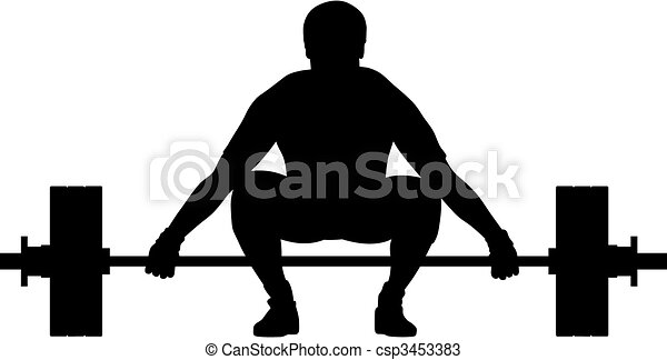 abstract vector illustration of weight lifter athlete vectors rh canstockphoto com weight training clipart free weight lifting clip art images
