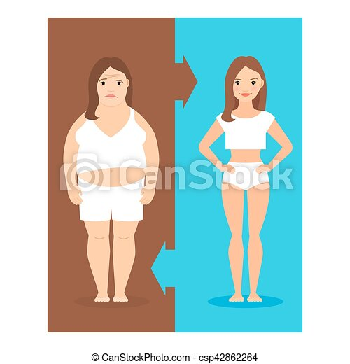 Weight loss illustration - csp42862264