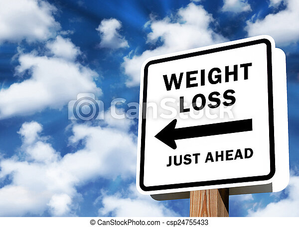 Weight Loss just ahead - csp24755433