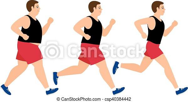 Weight loss running man - csp40384442