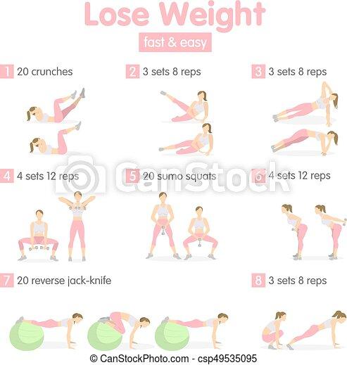 Weight loss training. - csp49535095