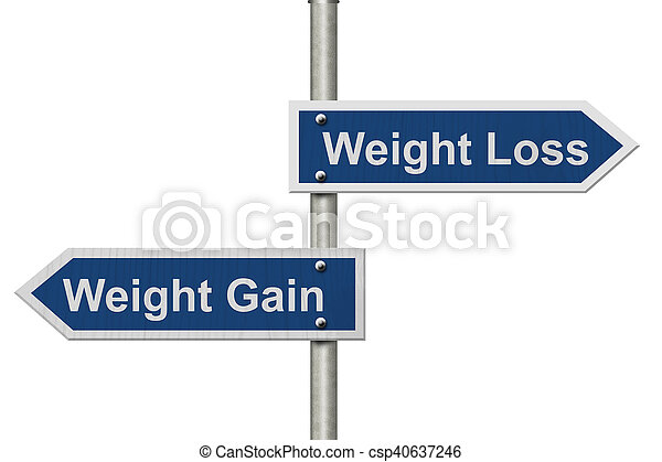 Weight Loss versus Weight Gain - csp40637246