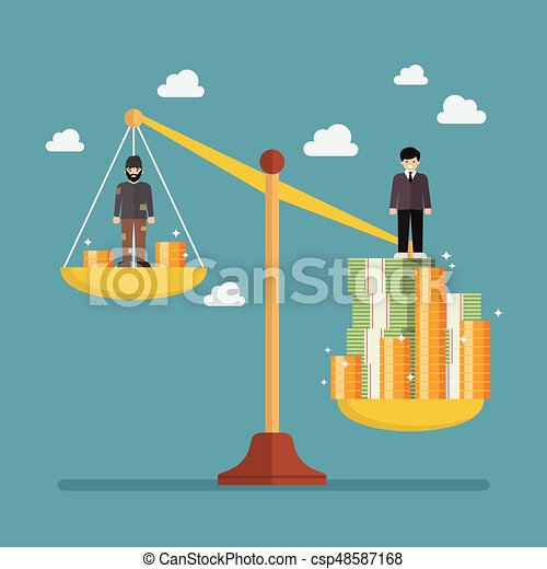Clip art vector of weight scale between rich man and poor man vector weight scale between rich man and poor man sciox Images