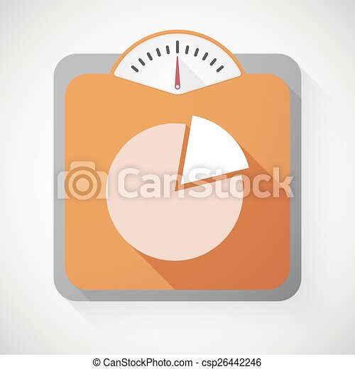 Weight Scale With A Pie Chart Illustration Of A Weight Scale With A