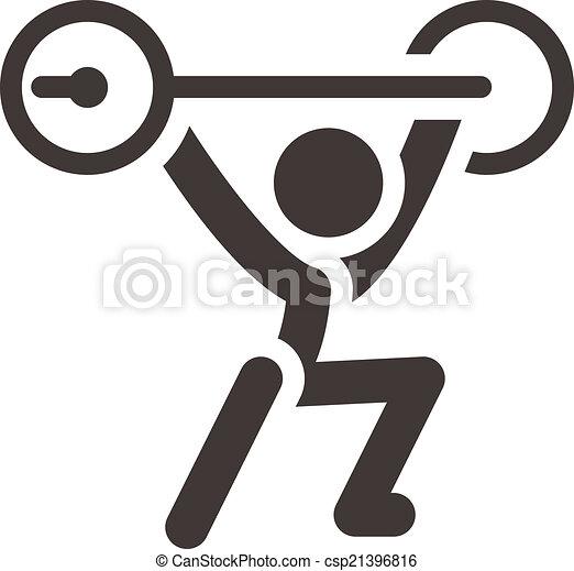 weightlifting, icono - csp21396816