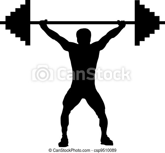 weightlifting silhouette weightlifting london athlete bodybuilder rh canstockphoto com weightlifting clipart gif weightlifting clipart black and white