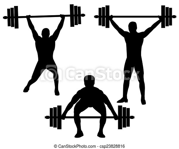 weightlifting weightlifters in different poses on a white weight lifting clip art women weightlifting clip art