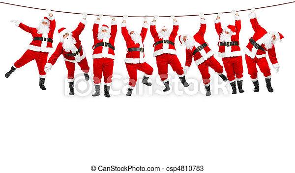 weihnachten, santa - csp4810783