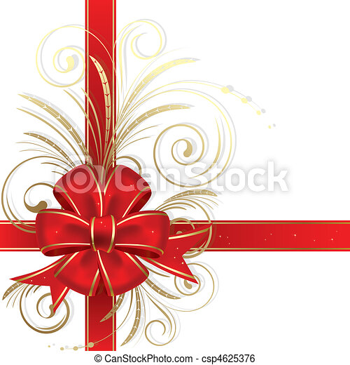weihnachten, schleife - csp4625376