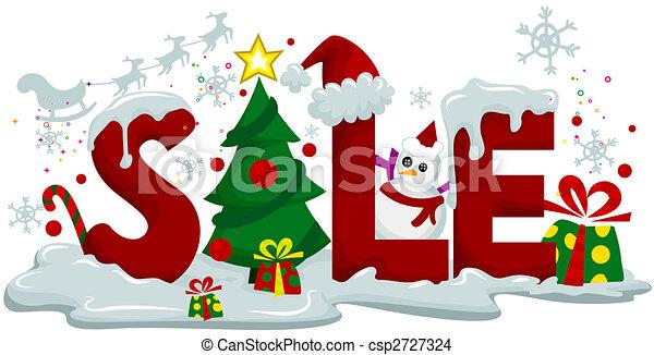 weihnachten, verkauf - csp2727324