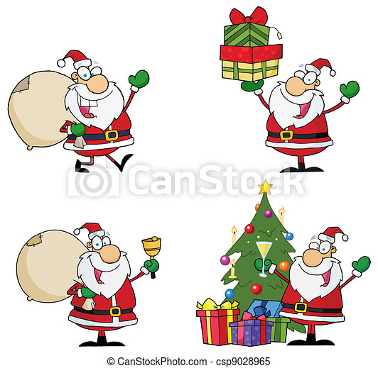 Die Zeichentrickfiguren vom Weihnachtsmann - csp9028965