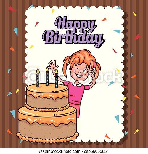 Weinig Niet Zo Veel Verjaardag Girl Kaart Vrolijke Weinig