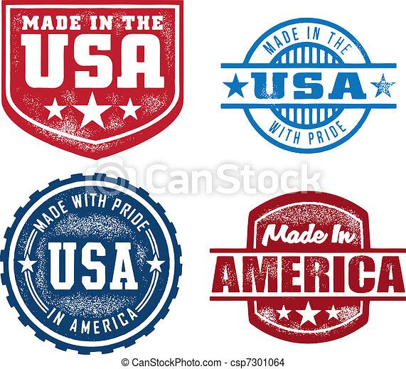 In den USA hergestellte Marken - csp7301064