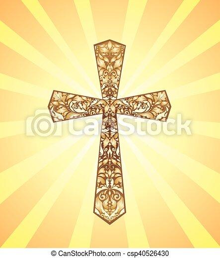 weinlese, christ, kreuz - csp40526430