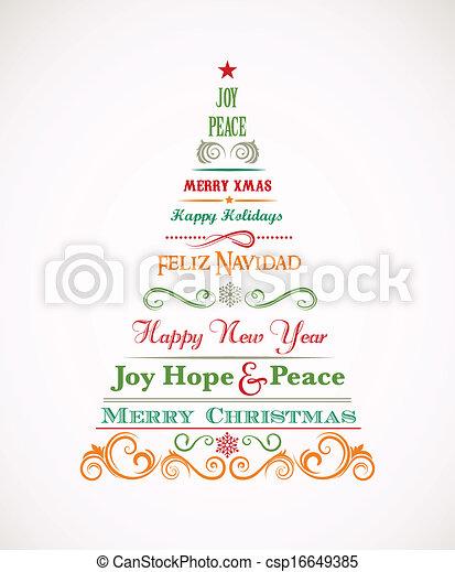 Weihnachten Bilder Mit Text.Weinlese Elemente Baum Weihnachten Text